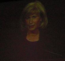 Bad picture of the screen - Linda Howard, Keynote Speak 2
