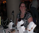 Beth Williamson with her husband's amazin jewelry at the Moonlight Madness Bazaar 2