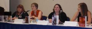 High octane kisses workshop Ann Aguirre, Carrie Lofty, Laura Bradford and Cynthia Eden (for Elizabeth Naughton) 2
