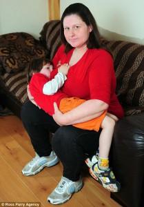 Older children being breastfeed